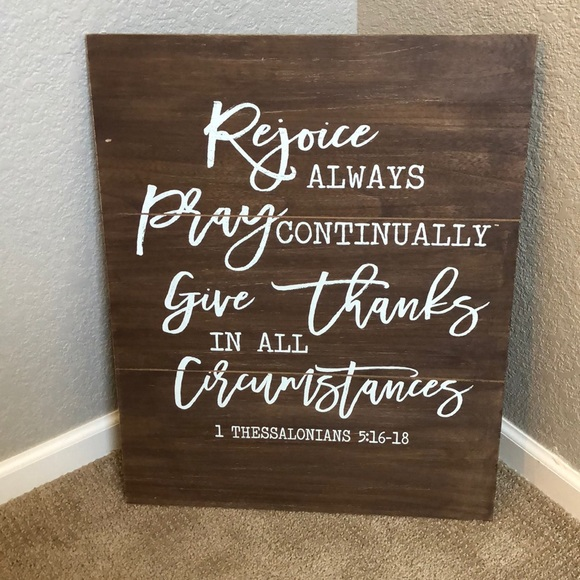 "Rejoice Always wall frame  Length 19"" height 24"